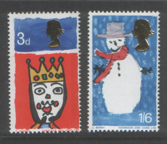 Great Britain 1966 Christmas (2) Scott # 478-79