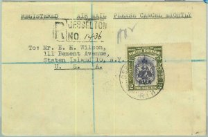 BK0330 - NORTH BORNEO  -  POSTAL HISTORY -  REGISTERED COVER to the USA 1945