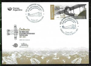 #10003 ARGENTINA 2021 AVIATION FIRST WOMEN PILOT CROSSING ANDES FDC
