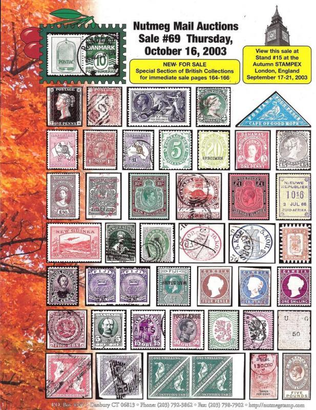 Nutmeg Stamp Sales - Britain, British Commonwealth and Sc...