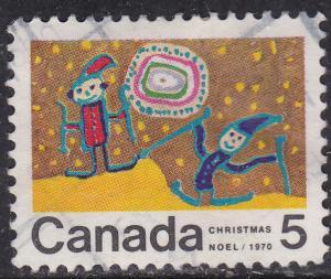 Canada 522 USED - 1970 Children Skiing