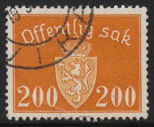 Stamp Norway Official Sc O056 1947 Dienst Coat Arms Used