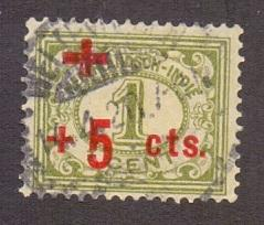 Netherlands Indies 1915 used red cross 1 + 5 ct  #