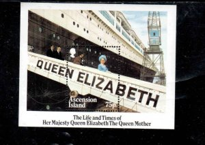 ASCENSION #376  1985  QUEEN MOTHER 85TH BORTHDAY     MINT VF NH  O.G S/S