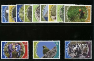 Tristan Da Cunha 2010 QEII Conservation set complete superb MNH. SG 993-1004.