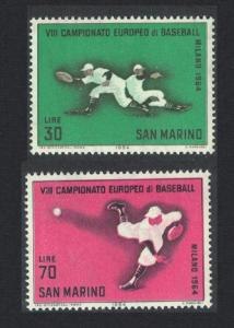 San Marino 7th European Baseball Championships Milan 2v SG#765-766 SC#604-605
