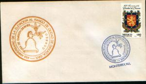 MEXICO 1273, CACHETED FDC. 450th Anniversary of Oaxaca City. F-VF.