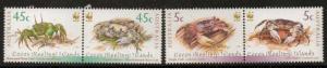 COCOS (KEELING) ISLANDS SG389/92 2000 CRABS MNH