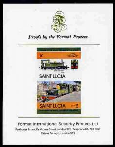 St Lucia 1984 Locomotives #2 (Leaders of the World) 1c \'...