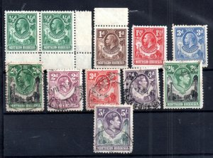 Northern Rhodesia KGV-KGVI mint & used collection to 5/- WS16675