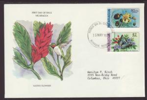 Nicaragua Flowers 1979 Typed FDC BIN
