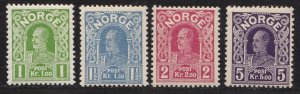 1910-18 Norway / Norge, N° 84b White Paper (See Scan) +85/87 4 Valo