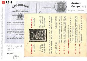 L313 1937 Hungary. Historic-Philatelic. Note: Image of stamp