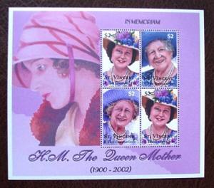 St Vincent Grenadines 312a, b, Queen Elizabeth,  sheet, MNH