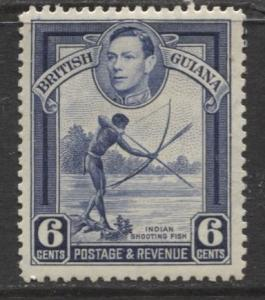 British Guiana - Scott 233 - KGVI- Definitive -1938 - MVLH - Single 6c Stamp