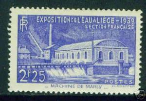 FRANCE Scott 388, Yvert 430 CV 20$ MH*  Liege Exp stamp