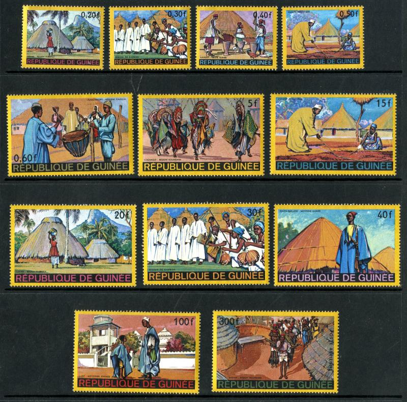 Guinea MNH 493-503,C100 Coyah Homes & People Of Africa SCV 9.05