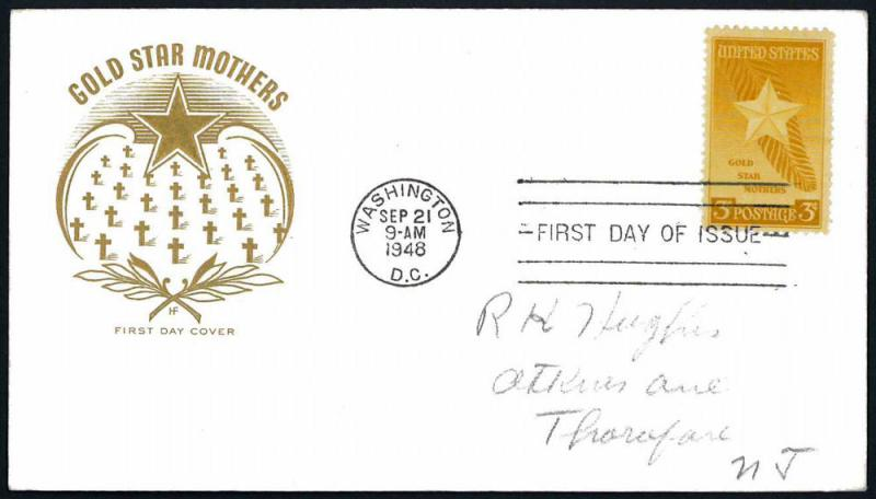 U.S.A.– (1948) Sc#969 Gold Star Mothers FDC