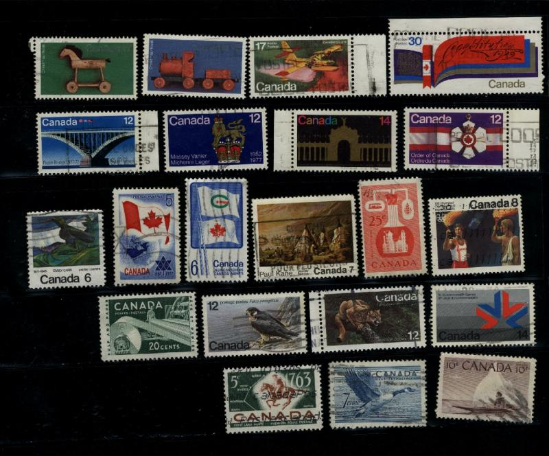 Canada  21 large different used   PD