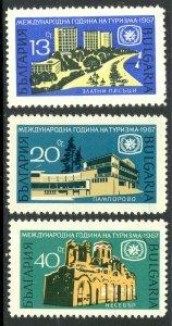 BULGARIA 1967 International TOURIST YEAR Set Sc 1585-1587 MNH