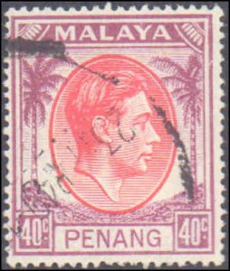 Malaya Penang #7, Incomplete Set, 1952, Used
