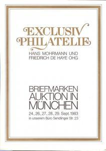 Exclusiv:    Exclusiv Philatelie, Mohrmann und DeHaye Sep...
