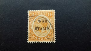 Jamaica 1916 Issues of 1906 & 1912-1916 Overprinted WAR STAMP- Two Lines Used