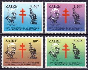 Kinshasa. 1983. 812-15. Koch medicine. MNH.