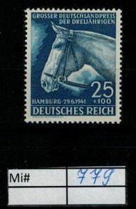 Deutschland Reich TR02 DR Mi 779 1938 Reich Postfrisch ** MNH