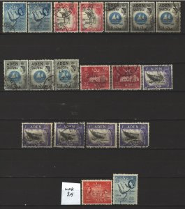 COLLECTION LOT # 5643 ADEN 19 STAMPS 1953+ CLEARANCE