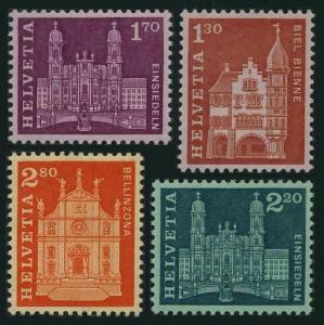 Switzerland 397A,398A,399A,399B,MNH.Michel 764-767. Guildhall,Churches,1963.