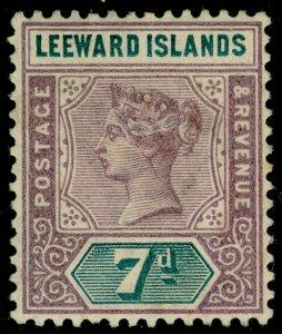 LEEWARD ISLANDS SG6, 7d dull mauve & slate, M MINT. Cat £11.