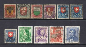 SWITZERLAND B10//B76 CDS VF MOST SOUND $242 SCV COLLECTION LOT SEE NOTES