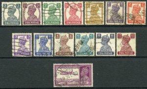 India SG265/77 1940 Set of 14 Used
