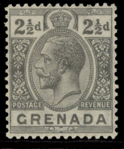 GRENADA GV SG118, 2½d grey, LH MINT.