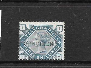 GREAT BRITAIN  1877 3/-  QV  TELEGRAPH  MNH  SPECIMEN  SG L229s