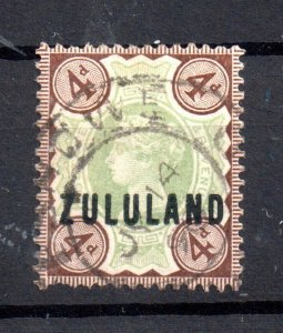Zululand 1888 4d SG#6 fine used WS16514