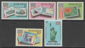 BAHAMAS SG746/50 1986 AMERIPEX 86 MNH