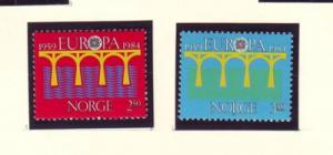 Norway Sc 841-2 1984 Europa stamp  mint NH