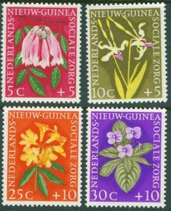 Netherlands New Guinea Scott B19-22 Flower set 1959 MNH**