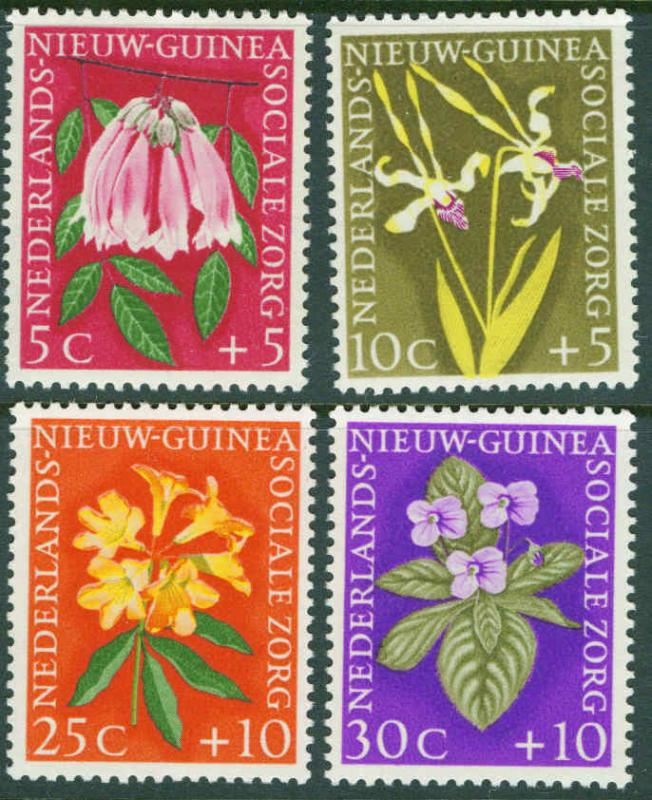 Netherlands New Guinea Scott B19-22 Flower set 1959 MNH**