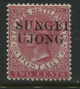 Sungei Ujong overprinted on Straits Settlements 2 cents rose mint o.g.