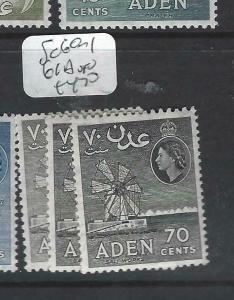 ADEN (P0204B)  QEII   70C  SG 60-1 , 61A    MOG
