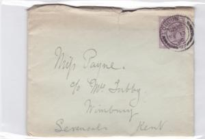 britain 1900 queen victoria stamps letter and  cover  ref r14669