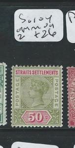 MALAYA STRAITS SETTLEMENTS (P0610B) 50C QV  SG104    MOG