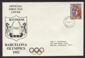 Botswana 1992 Typed FDC BIN
