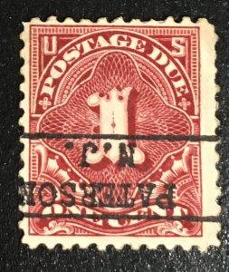 J61 b, Postage Due 1c, 11 perf., NWM, single, deep claret, Vic's Stamp Stash