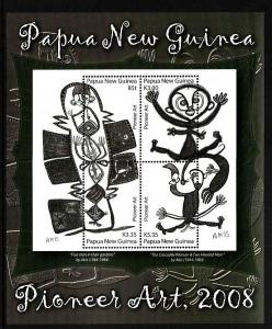 Papua New Guinea MNH S.S 1317 Pioneer Art Large