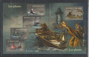 Niger MNH S/S Lighthouses Large Size 2015