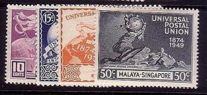 SINGAPORE 1949 UPU set lightly hinged mint.................................37359